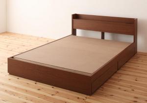 棚・コンセント付き収納ベッド S.leep エス・リープ ベッドフレームのみ ダブル