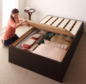 お客様組立 大容量収納庫付きすのこベッド HBレス O・S・V オーエスブイ ベッドフレームのみ セミダブル 深さレギュラー