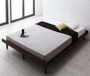 デザインすのこベッド Resty リスティー スタンダードポケットコイルマットレス付き ステージ ダブル フレーム幅160