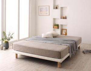 搬入・組立・簡単 選べる7つの寝心地 すのこ構造 脚付きマットレス ボトムベッド マットレスベッド プレミアム2層ポケットコイルマットレス付き ダブル 脚15cm