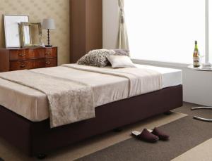 ホテル仕様デザインダブルクッションベッド ポケットコイルマットレス付き セミダブル