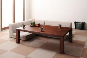 天然木ウォールナット材 和モダンこたつテーブル STRIGHT ストライト 長方形(85×135cm)