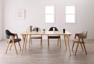 北欧デザインワイドダイニング OLELO オレロ 5点セット(テーブル+チェア4脚) W170