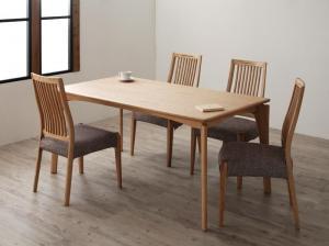 天然木ホワイトオーク材ダイニング Sturd スタード 5点セット(テーブル+チェア4脚) チェアタイプA W150
