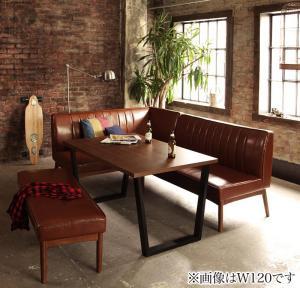 アメリカンヴィンテージデザイン リビングダイニングセット 66 ダブルシックス 4点セット(テーブル+ソファ1脚+アームソファ1脚+ベンチ1脚) 左アーム W150
