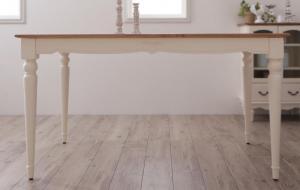 フレンチシャビーテイスト家具シリーズ 数量限定 ダイニング メイルオーダー Lilium リーリウム ダイニングテーブル W135