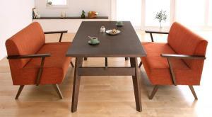 天然木北欧スタイル ソファダイニング Milka ミルカ 3点セット(テーブル+2Pソファ2脚) W160