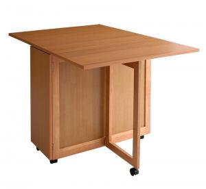 天然木バタフライ伸長式収納ダイニング kippis! キッピス ダイニングテーブル W40-120