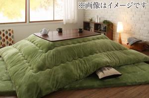 ふんわりなめらか防ダニフランネル 「ダブルで暖か」こたつ掛け敷き布団2点セット 4尺長方形(80×120cm)天板対応