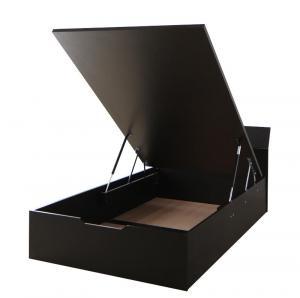 組立設置付 モダンデザイン_ガス圧跳ね上げ収納ベッド Criteria クリテリア ベッドフレームのみ 縦開き セミシングル 深さレギュラー