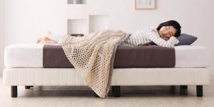 搬入・組立・簡単 寝心地が選べる ホテルダブルクッション 脚付きマットレスボトムベッド プレミアム2層ポケットコイルマットレス付き セミシングル