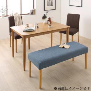 選べる8パターン 天然木 カバーリング ダイニング Queentet クインテッド 4点セット(テーブル+チェア2脚+ベンチ1脚) W120