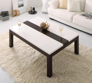 鏡面仕上げ バイカラーモダンデザインこたつテーブル Macbeth マクベス 長方形(75×105cm)