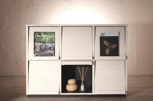 低めで揃える壁面収納ハイタイプテレビ台シリーズ Flip side フリップサイド フラップチェスト 3列2段