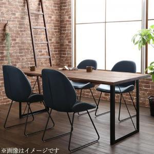 天然木ウォールナット無垢材ヴィンテージデザインダイニング Detroit デトロイト 5点セット(テーブル+チェア4脚) W180