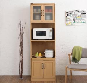 北欧モダンデザインキッチン収納シリーズ Anne アンネ レンジ台 幅58 高さ182