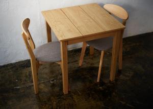 W68cm スクエアサイズのコンパクトダイニングテーブルセット FAIRBANX フェアバンクス ダイニングテーブル ナチュラル W68