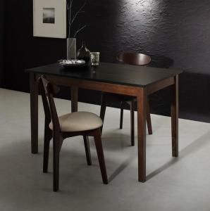モダンデザイン ダイニング Worth ワース 3点セット(テーブル+チェア2脚) ブラック×ウォールナット W115