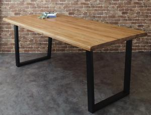 オーク無垢材ヴィンテージデザインダイニング Coups クプス ダイニングテーブル W180