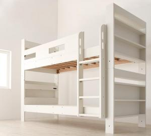 クイーンサイズベッドにもなるスリム2段ベッド Whenwill ウェンウィル ベッドフレームのみ スタンダード クイーン
