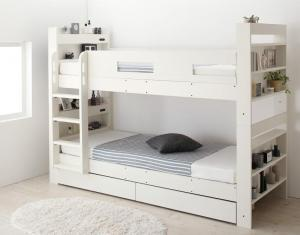 クイーンサイズベッドにもなるスリム2段ベッド Whenwill アウトレット ウェンウィル クイーン 薄型軽量ボンネルコイルマットレス付き スタンダード 安心の定価販売