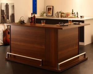収納付き本格バースタイル間仕切りカウンターダイニングセット Belck ベルク カウンターテーブル L字タイプ W110+W120