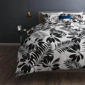 日本製・綿100% エレガントモダンリーフデザインカバーリング lifea リフィー 布団カバーセット ベッド用 50×70用 キング4点セット