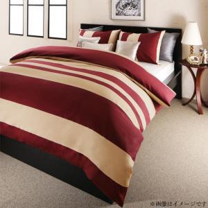 日本製・綿100% エレガントモダンボーダーデザインカバーリング winkle ウィンクル 布団カバーセット ベッド用 50×70用 セミダブル3点セット