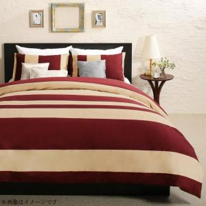 日本製・綿100% エレガントモダンボーダーデザインカバーリング winkle ウィンクル 布団カバーセット 和式用 50×70用 ダブル4点セット