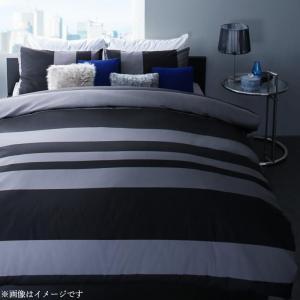 日本製・綿100% アーバンモダンボーダーデザインカバーリング tack タック 布団カバーセット 和式用 50×70用 ダブル4点セット