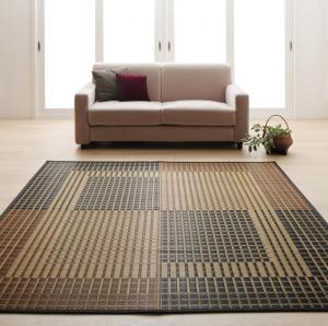 掛川織国産デザインい草ラグ  礎 いしずえ 不織布なし 191×250cm
