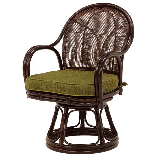 回転座椅子(ダークブラウン) RZ-343DBR