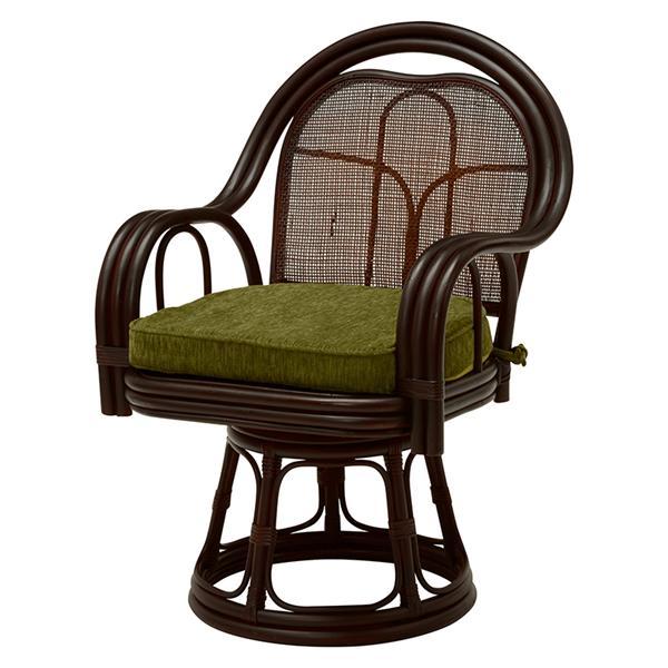 回転座椅子(ダークブラウン) RZ-523DBR