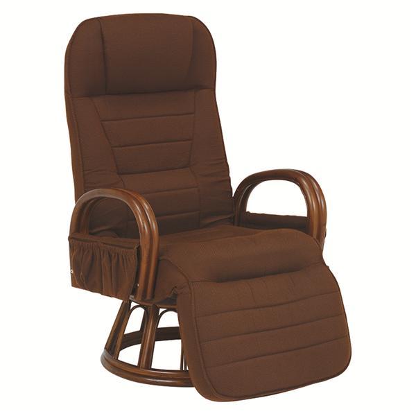 ギア付き回転座椅子(ブラウン) RZ-1258BR