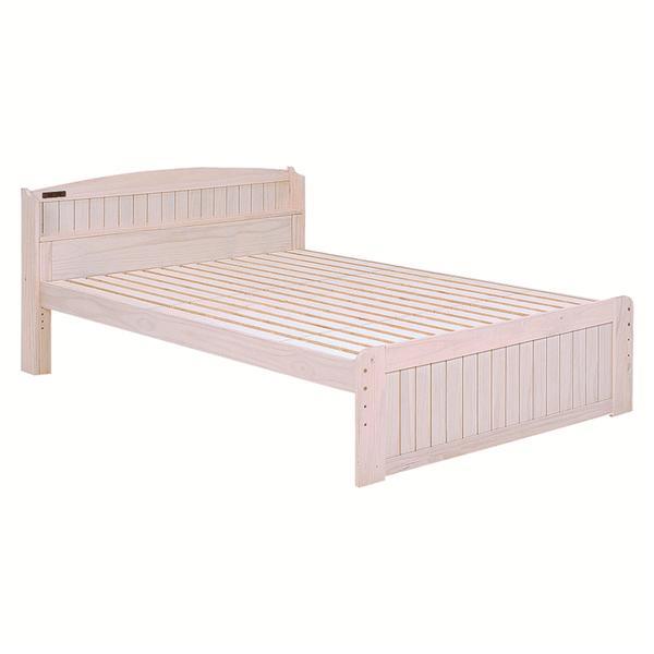 ベッド(ホワイトウォッシュ) MB-5113D-WS