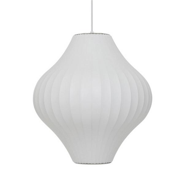 <ジョージ・ネルソン> バブルランプ ペアペンダント PearLamp Mサイズ ホワイト