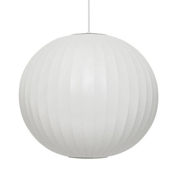 <ジョージ・ネルソン リプロダクト> バブルランプ ボールペンダントランプ BallLamp ペンダントライト Mサイズ ホワイト