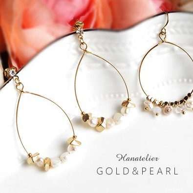 Allergic Correspondence Refined Hoop Pierced Earrings Nickel Free The Anium Post Or Type Pie065 That Fresh Water Pearl Gold Is