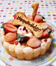 期間限定今なら送料無料 お誕生日のギフトでも人気のある愛犬用無添加ケーキです 時間指定不可 愛犬の腸内環境を整える乳酸菌 生乳100%ヨーグルト使用 ハッピーシャルロット 無添加お誕生日 お祝いケーキ
