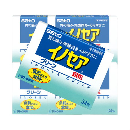 【第2類医薬品】イノセアグリーン 34包 【5個セット】【お取り寄せ】(4987316004853-5)