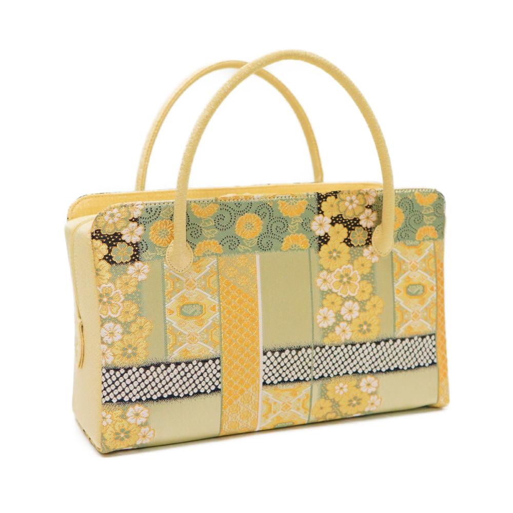 目玉商品和装バッグ 利休バッグ 花柄 金襴織物 あす楽対応