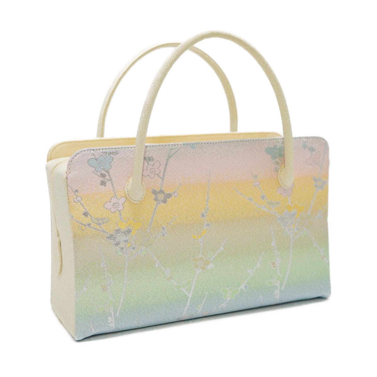 和装バッグ 利休バッグ金襴織物 梅