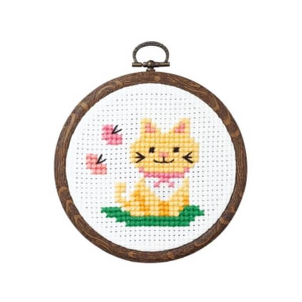 Yamakyu Of Handicraft Yamakyu Of Cross Stitching Kit Cat And