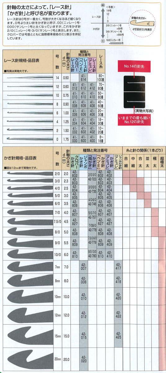 三叶草钩针笔-E 设置 43-606 clv 工艺品劳拉