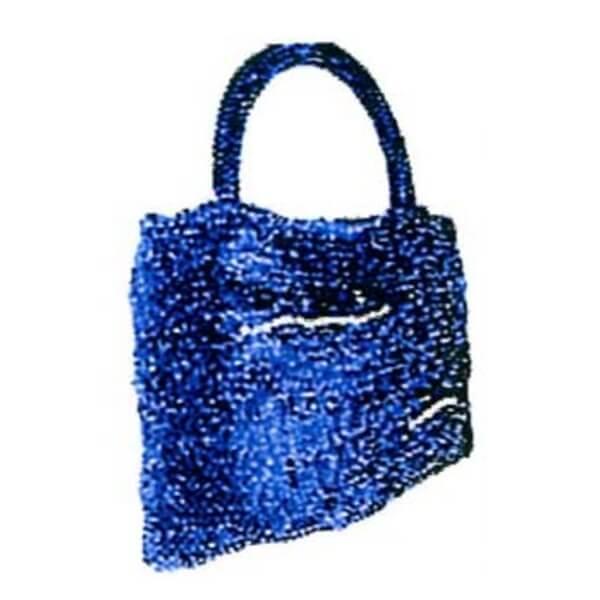 編み図付き キット ジュエリーレース 5カセで編む ガーター編スクエアバッグ 編み物 キット 取寄せ商品 エクトリー 手芸の山久