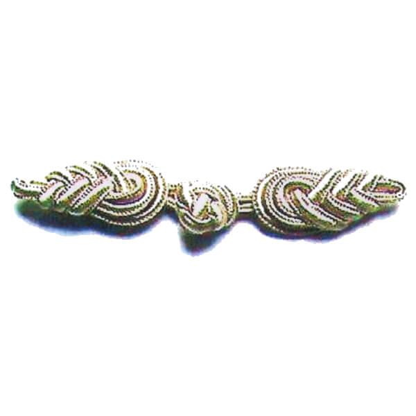 1年保証 10組単位 nojiri 25%OFF 107 リーフ ボタン 小 銀 金銀 手芸の山久 チャイナボタン 金 ヒモボタン