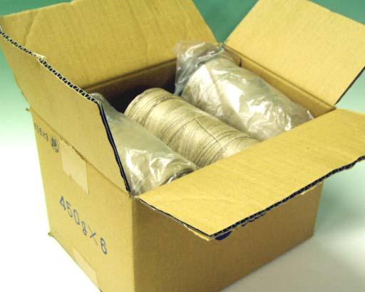 麻糸・ホワイトレーン450gツヤ有6個1箱 麻(ラミー&リネン)100% kuri 日本製 手芸の山久