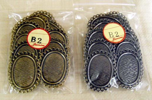 ブローチ台10個1袋 至上 B-2 大放出セール 楕円 手芸の山久 ジャスミン