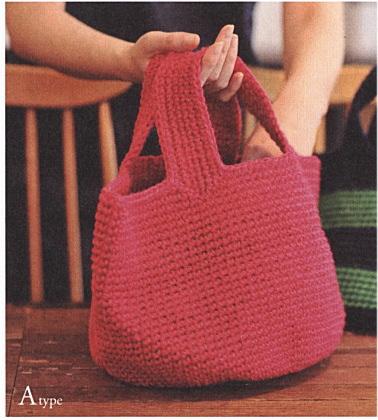 11146c18b3f6 楽天市場】バッグ キット 麻ひもで編む ラウンドバッグ Aタイプ 編み図 ...