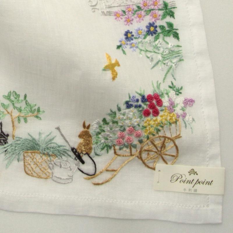 ポワンポワン ベトナム手刺繍 ハンカチ 6213  レディース 【送料無料】